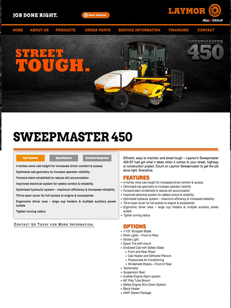 image of Lay Mor Sweeper Sweepmaster 450 copy